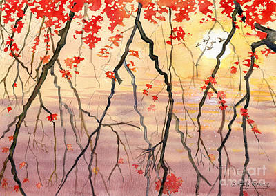 Maple Season Painting - Autumn Leaves by Melly Terpening