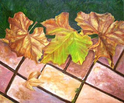Autumn Leaves Art Print by Olga Kaczmar