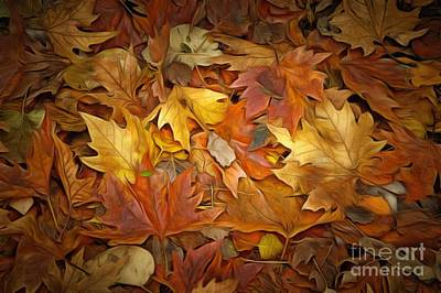 Painting - Autumn Leaves Painting by George Atsametakis