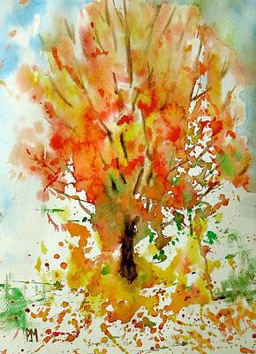 Painting - Autumn Leaves by Pete Maier