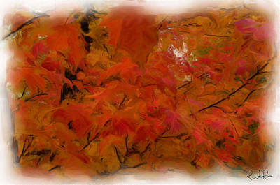 Digital Art - Autumn Leaves by Richard Ricci