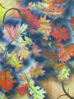 Mix Medium Painting - Autumn Leaves by Scott Murphy