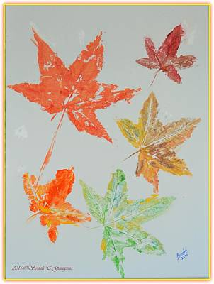 Buy Tshirts Painting - Autumn Leaves by Sonali Gangane