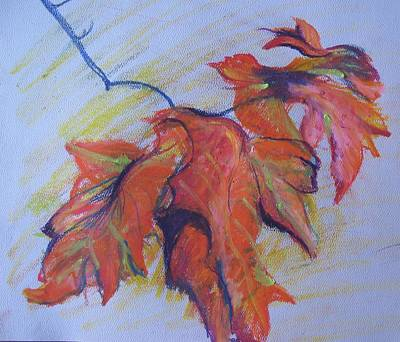 Painting - Autumn Leaves by Susan Brooks
