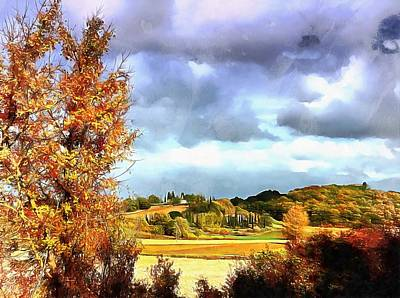 Photograph - Autumn Life In Tuscany by Dorothy Berry-Lound