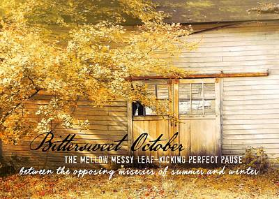 Autumn Light Quote Art Print by JAMART Photography