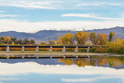 Photograph - Autumn Lines Continental Divide And Sky Diver by James BO Insogna