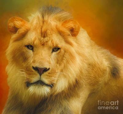 Digital Art - Autumn Lion by Suzanne Handel