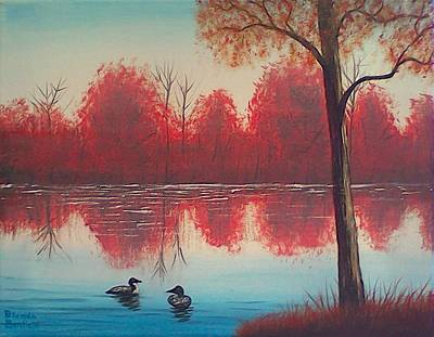 Painting - Autumn Loons by Brenda Bonfield
