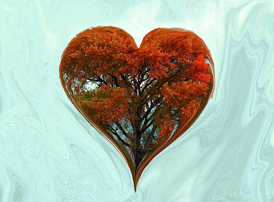 Digital Art - Autumn Love by Ernie Echols