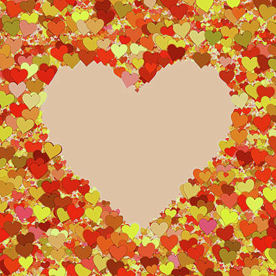 Digital Art - Autumn Love Heart by Georgiana Romanovna