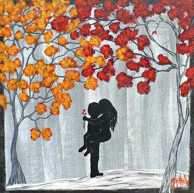 Painting - Autumn Love by JoNeL Art
