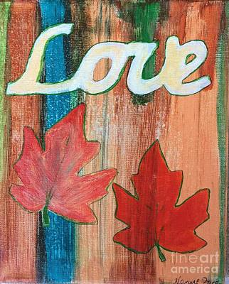 Painting - Autumn Love by Nancy Pace
