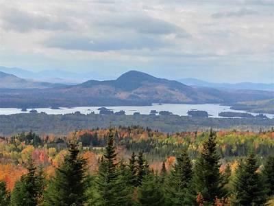 Photograph - Autumn Maine Landscape by Jewels Blake Hamrick