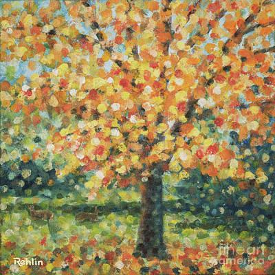 Autumn Maple / Deer Original