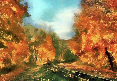 Seasonal Mixed Media - Autumn Maples by Georgiana Romanovna