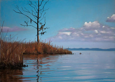 Pastel - Autumn Marsh Reeds by Christopher Reid