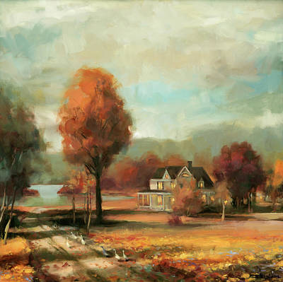 Geese Wall Art - Painting - Autumn Memories by Steve Henderson