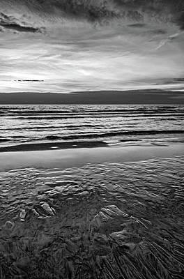 Photograph - Autumn Merging - Sauble Beach 2 Bw by Steve Harrington
