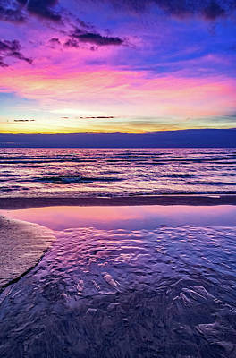 Abstract Works - Autumn Merging - Sauble Beach 3 by Steve Harrington
