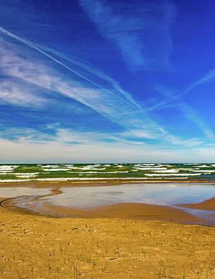 Photograph - Autumn Merging - Sauble Beach 8 by Steve Harrington