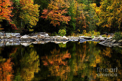 Autumn Middle Fork River Art Print by Thomas R Fletcher