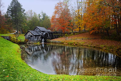 Blue Ridge Parkway Photograph - Autumn Mill by Tom Gari Gallery-Three-Photography