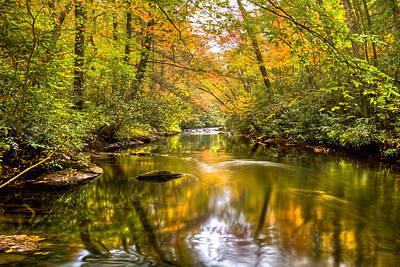 Autumn Mirror Art Print by Debra and Dave Vanderlaan