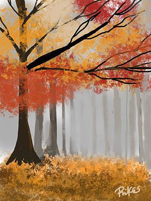 Digital Art - Autumn Mist by Diana Riukas