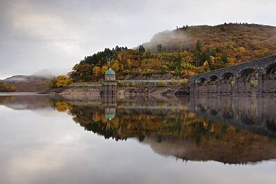Photograph - Autumn Mist On The Elan Valley by Stephen Taylor