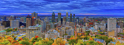 Photograph - Autumn Montreal Panorama by Eti Reid