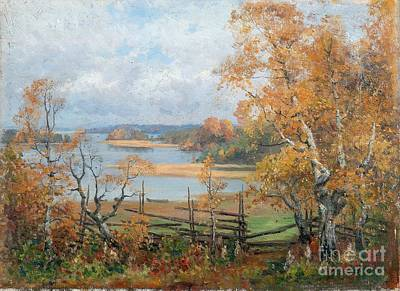 Mood Painting - Autumn Mood by Celestial Images