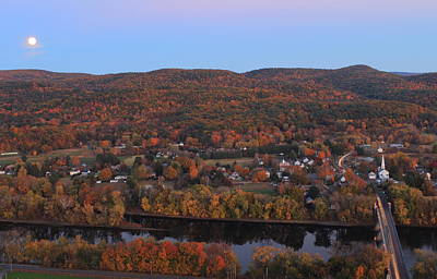 Photograph - Autumn Moonrise From Mount Sugarloaf by John Burk