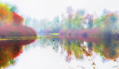 Photograph - Autumn Morning Dream by Dee Browning