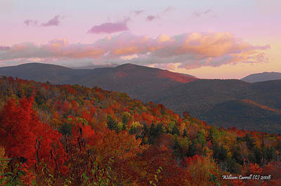 Fall Photograph - Autumn Morning In New Hampshire by William Carroll
