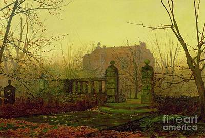 Autumn Leaf Painting - Autumn Morning by John Atkinson Grimshaw