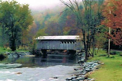 Autumn Morning Mist Art Print by Dan Dooley