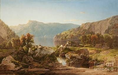 William Sonntag Painting - Autumn Morning On The Potomac by MotionAge Designs