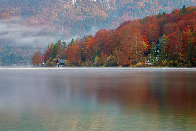 Photograph - Autumn Morning Over Lake Bohinj by Ian Middleton