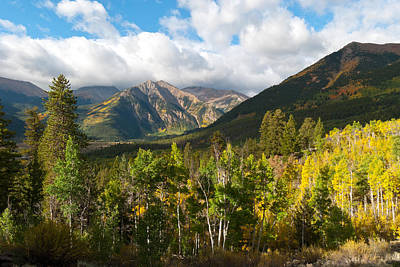 Photograph - Autumn Morning Shadows In The Rockies by Cascade Colors