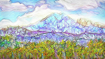 Digital Art - Autumn Mountain Afternoon - Boulder County Colorado by Joel Bruce Wallach