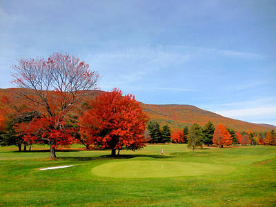 Autumn Mountain Golf Course 8 Art Print by Lanjee Chee