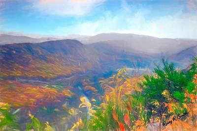 Digital Art - Autumn Mountain View,pennsylvania. by Rusty R Smith
