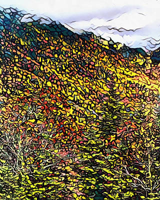 Painting - Autumn Mountains Mosaic by Dan Sproul