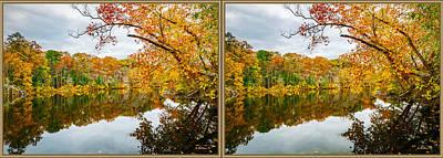 Autumn Nature - 3d Stereo X-view Art Print
