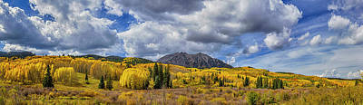 Photograph - Autumn Near Crested Butte Co_dsc07211-pano by Greg Kluempers