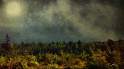 Painting - Autumn Night In The Pines by RC deWinter