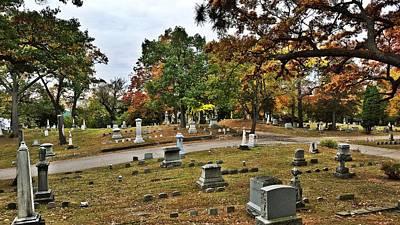 National Cemetery Digital Art - Autumn Oak by 2141 Photography