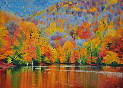 Autumn Painting - Autumn Of Lake  by Arthur Petrosyan