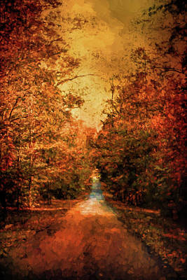 Park Scene Painting - Autumn On Calvary Road Landscape Art by Jai Johnson